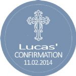 Personalised Boy Confirmation Stickers Design 5